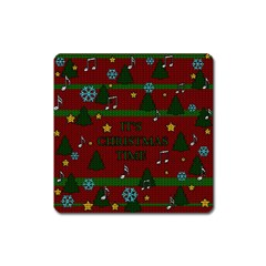Ugly Christmas Sweater Square Magnet