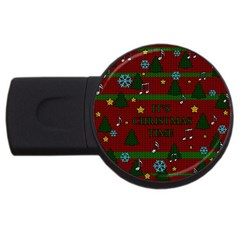 Ugly Christmas Sweater Usb Flash Drive Round (2 Gb)