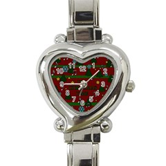 Ugly Christmas Sweater Heart Italian Charm Watch