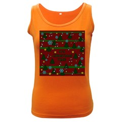 Ugly Christmas Sweater Women s Dark Tank Top