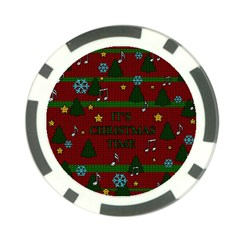 Ugly Christmas Sweater Poker Chip Card Guard (10 Pack)