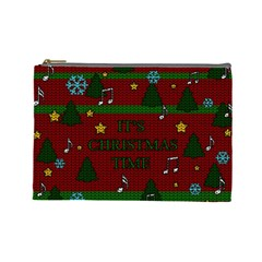 Ugly Christmas Sweater Cosmetic Bag (large)