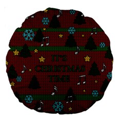 Ugly Christmas Sweater Large 18  Premium Round Cushions