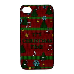 Ugly Christmas Sweater Apple Iphone 4/4s Hardshell Case With Stand