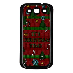 Ugly Christmas Sweater Samsung Galaxy S3 Back Case (black)
