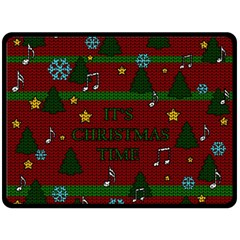 Ugly Christmas Sweater Double Sided Fleece Blanket (large)