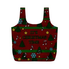 Ugly Christmas Sweater Full Print Recycle Bags (m)