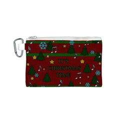 Ugly Christmas Sweater Canvas Cosmetic Bag (s)