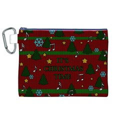 Ugly Christmas Sweater Canvas Cosmetic Bag (xl)