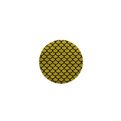 Scales1 Black Marble & Yellow Leather 1  Mini Magnets