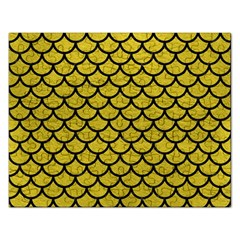 Scales1 Black Marble & Yellow Leather Rectangular Jigsaw Puzzl
