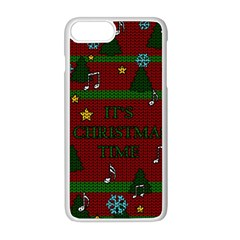 Ugly Christmas Sweater Apple Iphone 8 Plus Seamless Case (white)