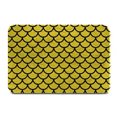 Scales1 Black Marble & Yellow Leather Plate Mats