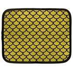 SCALES1 BLACK MARBLE & YELLOW LEATHER Netbook Case (XL)  Front