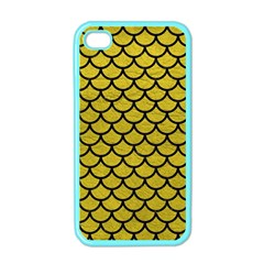 Scales1 Black Marble & Yellow Leather Apple Iphone 4 Case (color)