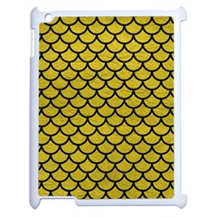 Scales1 Black Marble & Yellow Leather Apple Ipad 2 Case (white)