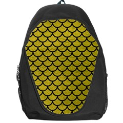 Scales1 Black Marble & Yellow Leather Backpack Bag