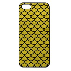 Scales1 Black Marble & Yellow Leather Apple Iphone 5 Seamless Case (black)