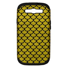 Scales1 Black Marble & Yellow Leather Samsung Galaxy S Iii Hardshell Case (pc+silicone)