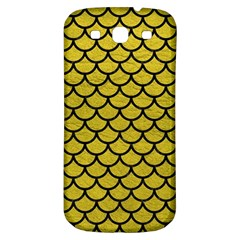 Scales1 Black Marble & Yellow Leather Samsung Galaxy S3 S Iii Classic Hardshell Back Case