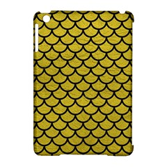 Scales1 Black Marble & Yellow Leather Apple Ipad Mini Hardshell Case (compatible With Smart Cover)