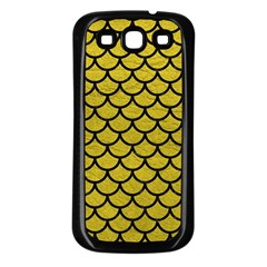 Scales1 Black Marble & Yellow Leather Samsung Galaxy S3 Back Case (black)