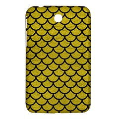 Scales1 Black Marble & Yellow Leather Samsung Galaxy Tab 3 (7 ) P3200 Hardshell Case