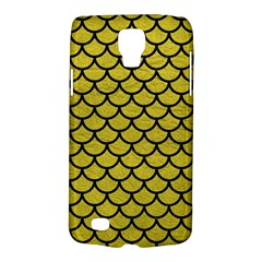 Scales1 Black Marble & Yellow Leather Galaxy S4 Active