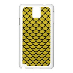 Scales1 Black Marble & Yellow Leather Samsung Galaxy Note 3 N9005 Case (white)