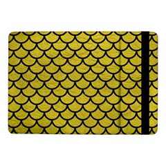 Scales1 Black Marble & Yellow Leather Samsung Galaxy Tab Pro 10 1  Flip Case