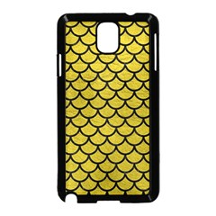 Scales1 Black Marble & Yellow Leather Samsung Galaxy Note 3 Neo Hardshell Case (black)