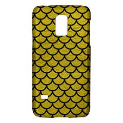 Scales1 Black Marble & Yellow Leather Galaxy S5 Mini