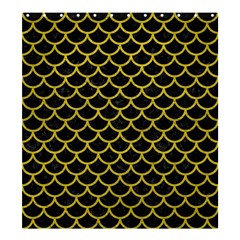 Scales1 Black Marble & Yellow Leather (r) Shower Curtain 66  X 72  (large)