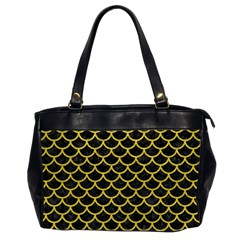 Scales1 Black Marble & Yellow Leather (r) Office Handbags (2 Sides)
