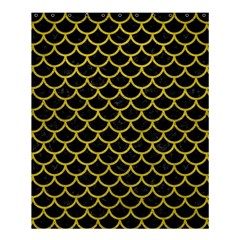Scales1 Black Marble & Yellow Leather (r) Shower Curtain 60  X 72  (medium)