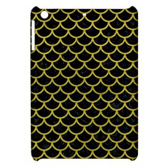 Scales1 Black Marble & Yellow Leather (r) Apple Ipad Mini Hardshell Case