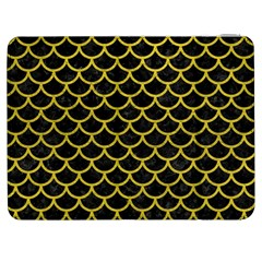 Scales1 Black Marble & Yellow Leather (r) Samsung Galaxy Tab 7  P1000 Flip Case
