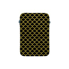 Scales1 Black Marble & Yellow Leather (r) Apple Ipad Mini Protective Soft Cases
