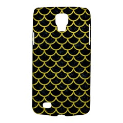 Scales1 Black Marble & Yellow Leather (r) Galaxy S4 Active