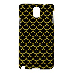 Scales1 Black Marble & Yellow Leather (r) Samsung Galaxy Note 3 N9005 Hardshell Case