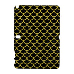 Scales1 Black Marble & Yellow Leather (r) Galaxy Note 1