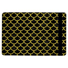 Scales1 Black Marble & Yellow Leather (r) Ipad Air Flip