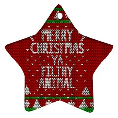 Ugly Christmas Sweater Ornament (star)