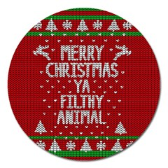 Ugly Christmas Sweater Magnet 5  (round)