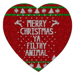 Ugly Christmas Sweater Jigsaw Puzzle (heart)