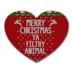 Ugly Christmas Sweater Heart Mousepads