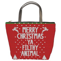 Ugly Christmas Sweater Bucket Bags