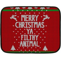 Ugly Christmas Sweater Fleece Blanket (mini)
