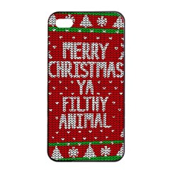 Ugly Christmas Sweater Apple Iphone 4/4s Seamless Case (black)