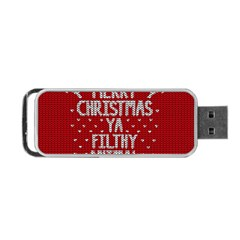 Ugly Christmas Sweater Portable Usb Flash (one Side)